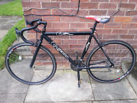 "Teman road bike 18 gears, 23"" frame, 23mm tyres, dual brakes, good condition + can include extras"