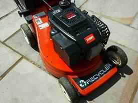 Toro petrol lawnmower 48 cm cut recycler with grass bag