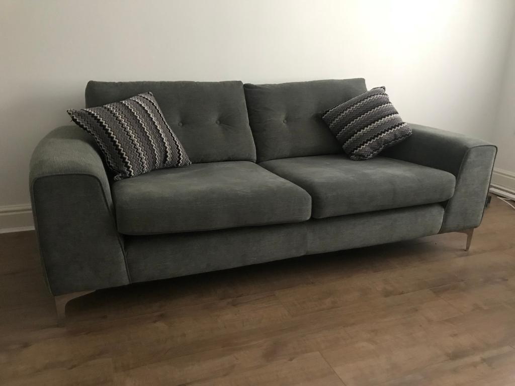 Three seater sofa - grey - sofology