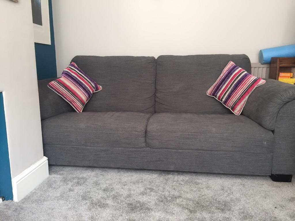 Ikea tidafors three seater grey sofain Redfield, BristolGumtree - Large IKEA sofa with fixed cushions which comfortably seats three adults. Its super comfy and weve only had it for just over a year but too large for our living room really so downsizing! The sofa is generally in vgc but has a few kitty scratches and...