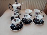 ROYAL ALBERT CHINA. MASQUERADE COFFEE SET. 11 PIECES. COFFEE POT. 1ST QUALITY