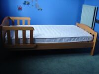 Mothercare wooden toddler bed
