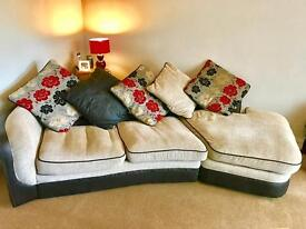 Grey, black and red Sofa bed REDUCED