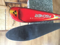 Fisher Carving Skis 178cm long + Salomon Spheric S700 Ski bindings