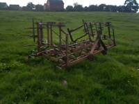 Tractor three point linkage folding triple k cultivator with rear levelling bar suit horse arena etc