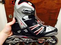 Size 12 like new Rollerblades + (knees,elbows,wrists and helmet)