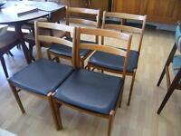 MID CENTURY BIRCH DINING CHAIRS