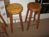 Kitchen stools. Set of four, three exactly the same and one very similar.