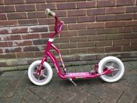 Pink metal scooter
