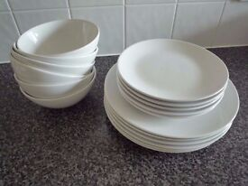 Dinner Plates and Bowls £9