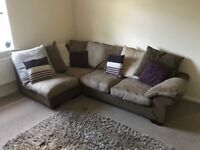 Corner Sofa & Footstool. Great condition. Super comfortable.