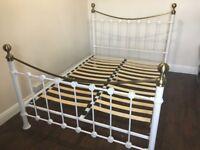 Double steel metal bed frame