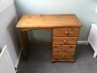 Solid Pine Desk/Dresser