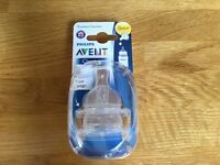 Philips Avent Classic 0+ Newborn flow teats ( 2 pack) Brand New