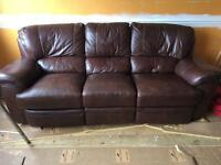 3 piece leather suite all reclining! O.f.f.e.r.s