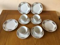Vintage Yong Sheng Porcelain Tea Set & Side Plates COLLECT LEEDS