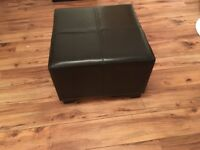 Brown faux foot stool