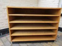 Solid wood mobile shelving unit Paper/Plan/Artwork storage
