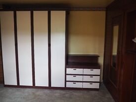 Wardrobe and Matching 3 Drawer Cabinets