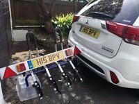 4 bike platform carrier 60KG capacity plus tail light board. Bargain £99. Carrier cost 290 Euros.