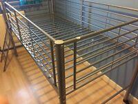 Single midriser metal frame bed Argos, great condition RRP £79.99