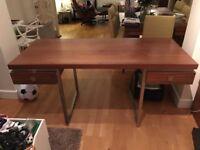 Dwell Walnut desk with drawers