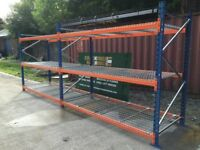 Longspan Shelving, Palllet racking, used, 2 x joined bays, warehouse PSS £300.00 + VAT