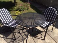 """Royal Garden"" Metal table and 2 Chairs"