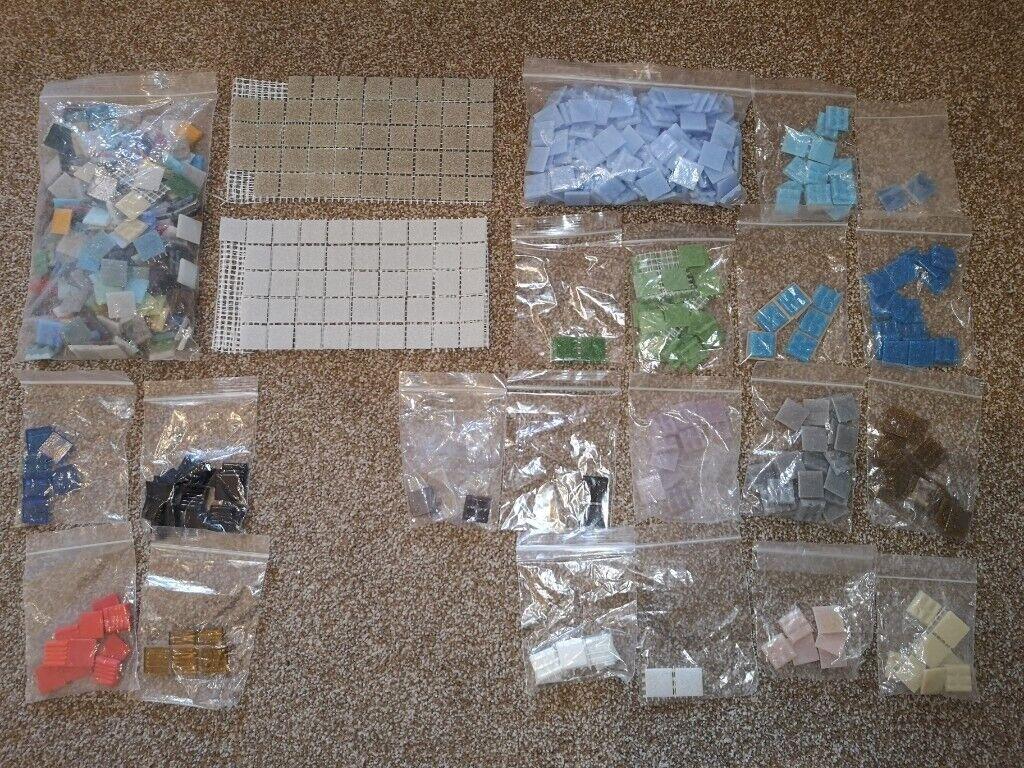 Craft mosaic tiles - 2cm² squares, random selection (>2kg job lot plus  Freebies!) | in Lincoln, Lincolnshire | Gumtree