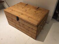 Vintage Handmade Wooden Chest