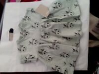 Mamas & Papas Panda print dress. Size 3-6months. brand new with tags on