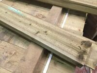 Feather edge boards, cladding pressure treated