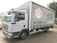 MAN TGL 8-180 AUTOMATIC 7.5TON CURTAIN SIDE TRUCK, 2008/58 PLATE.