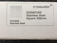Crosswater FH330SS 300mm shower head *brand new*