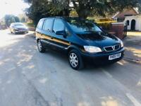 ZAFIRA 2005-LOW MILEAGES-1.6 BLACK-7 SEATER-LONG MOT CLEAN IN OUT-FULL SERVICE HISTORY-1 OWNER-HPI