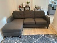 Grey 4 seater corner sofa