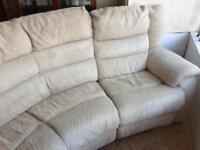 Curve electric recliner sofa