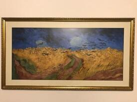 Van Gogh Wheatfield with Crows Framed Print (Art)