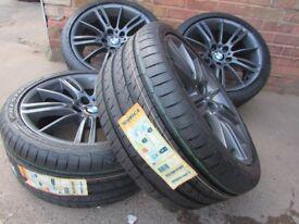 "Genuine BMW 18"" Alloy Wheels + BRAND NEW TYRES + FULLY REFURBISHED MV3 M Sport"