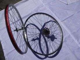 "Pair of 26"" Mountain Bike Wheels"