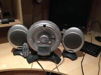 Cyber CD player, alarm clock and radio with speakers