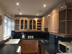 Complete full kitchen for sale with hob, oven, extractor fan and sink