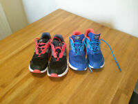 2 pairs of trainers, Kalenji, size 2.5 (35EU), £3 each