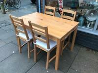 Ikea Jokkmokk Pine Table And Four Chairs