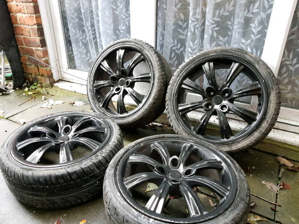 17 INCH ALLOY WHEELS WITH TYRES PEUGEOT CITROEN FORD