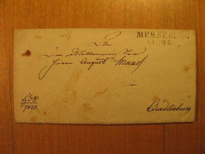 1817 Brief Generalfeldmarschall Kleist von Nollendorf Autograph Merseburg