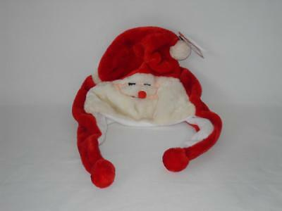 New Santa Clause Hat w/ear flaps - Color: Red - Size: NONE - NWOT