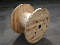 Chunky Wooden Reclaimed Cable Reel/Drum,Table, 100 cm x 67cm Upcycled/Craft project.