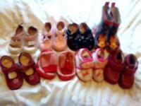 Girls infant size 4 clarks shoe bundle