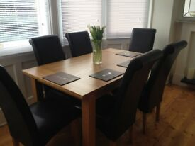 Dinning Set Table with Six Leather London Chairs from Range